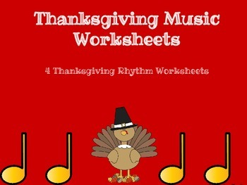 Thanksgiving Music Worksheets