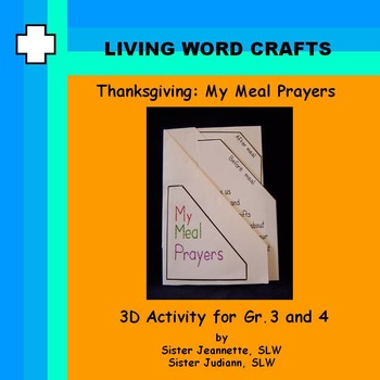 Thanksgiving My Meal Prayers for Grades 3 and 4