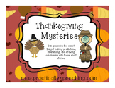Thanksgiving Mysteries for Inferencing, Making Predictions