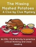 Thanksgiving Mystery Activity: The Missing Mashed Potatoes