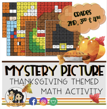 Thanksgiving Color by Number: Math Activities (2nd, 3rd & 4th Grade)