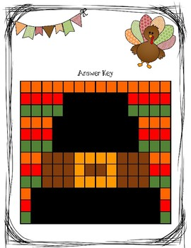Thanksgiving Mystery Picture (Fact Fluency) Subtraction within 10