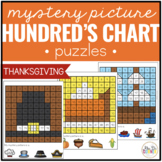 Thanksgiving Mystery Picture Hundred's Chart Puzzles