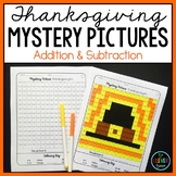 Mystery Pictures Thanksgiving - Addition and Subtraction Facts