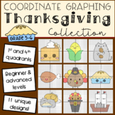 Thanksgiving Mystery Pictures: Coordinate Graphing (4 Quadrants)