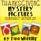 Thanksgiving Mystery Pictures Subtraction Within 20 ~ Fact Fluency