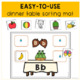Thanksgiving Beginning Sounds Puzzles for Preschool, Pre-K and K