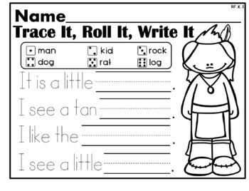 Thanksgiving NO PREP Kindergarten Language Arts Pack - Common Core Aligned!