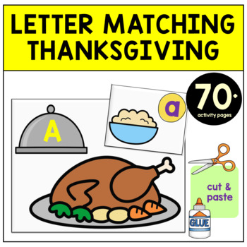 Thanksgiving Letter Activities - Letter Sorting Thanksgiving Cutleries