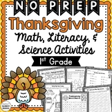 Thanksgiving Math, Literacy, Science, & Social Studies Worksheets