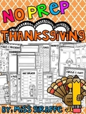 Thanksgiving Activities (No Prep November Worksheets and W