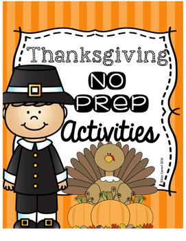 Thanksgiving NO PREP Pack