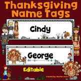 Thanksgiving Name Tags Editable