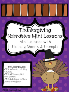 Thanksgiving Narrative Mini Lesson Unit