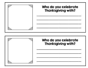 Thanksgiving Narrative Minibook