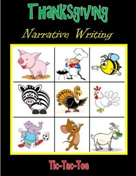 Thanksgiving Narrative Writing (Tic-Tac-Toe)