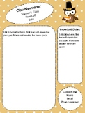 Thanksgiving Newsletter Template - editable