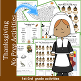 Thanksgiving Activity Sheets: Math Reading and Science