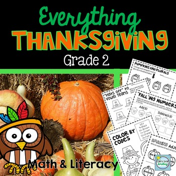 Thanksgiving Activities 2nd Grade ~ Thanksgiving Writing