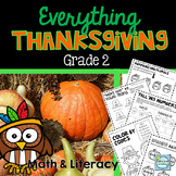 Thanksgiving 2nd Grade Activities ~ Thanksgiving 2nd Grade Math and Writing