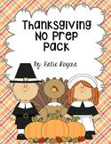 Thanksgiving No Prep Literacy Pack