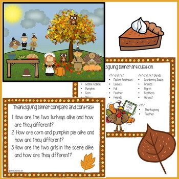 Thanksgiving No-Prep No-Print Language Visual Scene