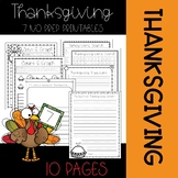Thanksgiving No-Prep Printables