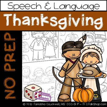 Thanksgiving: No Prep Speech and Language