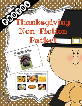 Thanksgiving NonFiction Packet for Autism and Special Education