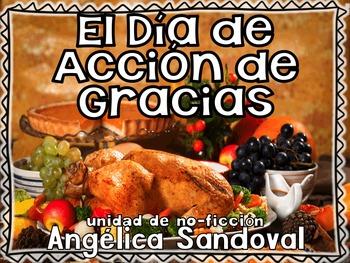 Thanksgiving Non Fiction Unit in Spanish El Dia de Acción