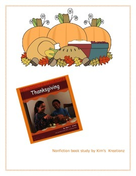 Thanksgiving Nonfiction Book Study