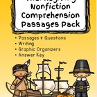 Thanksgiving Nonfiction Comprehension Passages Pack