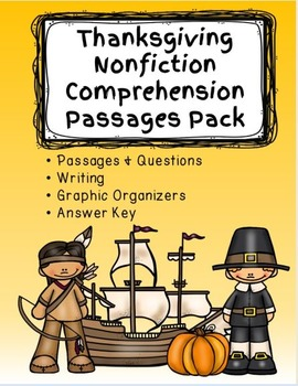 Thanksgiving Nonfiction Comprehension Passages Pack