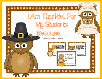 Thanksgiving Note From The Teacher Freebie