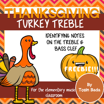 Thanksgiving Note Identification {treble and bass clef}
