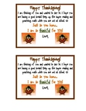 Thanksgiving- Note to send home to students over thanksgiv