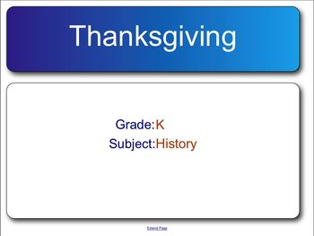 Thanksgiving Notebook Assessment for the Smart Board