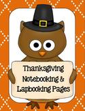 Thanksgiving Notebooking & Lapbooking