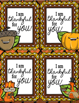 Thanksgiving Notes FREEBIE