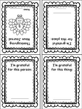 Thanksgiving Noun Foldable Mini-Book in English and Spanish {Bilingual}
