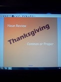 Thanksgiving Noun Review- Identifying Common and Proper Nouns