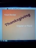 Thanksgiving Noun Review- Identifying Singular and Plural Nouns
