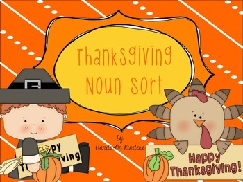 Thanksgiving Noun Sort