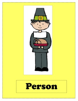 Thanksgiving Noun Worksheet & Word Sort Activity