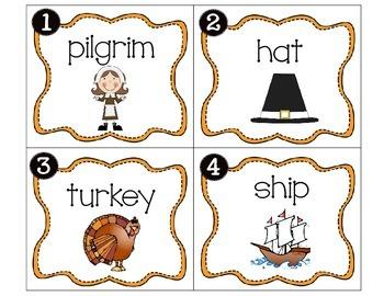 Thanksgiving Noun/Verb Scoot
