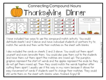 Thanksgiving Nouns & Adjectives