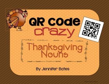 Thanksgiving Nouns QR Code Center FREEBIE