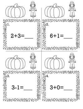 Thanksgiving November 1st Grade {Scoot Game/Task Cards} Math Bundle