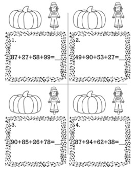 Thanksgiving November 2nd Grade {Scoot Game/Task Cards} Math Bundle