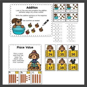 November Math Task Cards